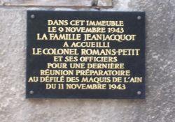 Gedenktafel am Haus 10 Rue de la Paix