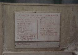 Gedenktafel zivile Opfer der Kämpfe