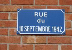 Straßenschild Rue du 12 septembre 1942