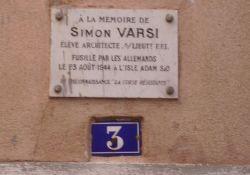 Gedenktafel Simon Varsi