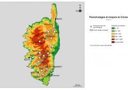 Abwurfplätze in Korsika (Quelle: AERI)