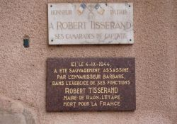 Gedenktafeln an Bürgermeister Tisserand