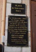 Gedenktafel Deportation, an Mairie
