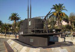 Turm des U-Boots Casabianca auf Pl. Saint-Nicolas, Bastia