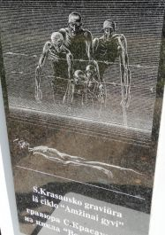 Tafel mit Inschrift