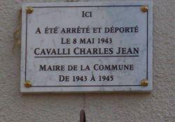 Gedenktafel Ch. Cavalli