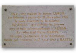 Tafel für P. Griffi (Quelle:  Collège Pascal Paoli, Corte)
