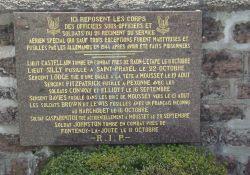 Friedhof, Namen der Fallschirmjäger