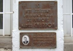 Stele Marius Chardon in Bahn-Werkstatt (Ausschnitt)