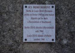 Gedenktafel Berthe und Louis Gras
