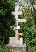 Holzkreuz für die Resistants V. Boiron und J. Tournissa