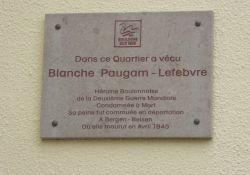 Gedenktafel Blanche Paugam-Lefevbre