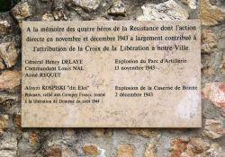 Ehrentafel für A. Requet und A. Kospiski