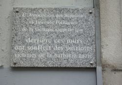 Tafel für Gestapo-Opfer