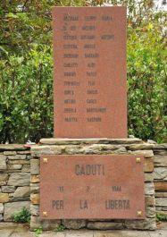 Gedenkstätte Megolo-Cortavolo (Detail)