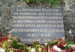 Gedenktafel für die Opfer des Vichy-Regimes (© Vincent Rogard)