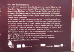 Informationstafel auf deutsch