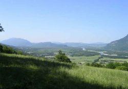 Blick vom Dorf ins Rhonetal