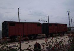 Güterwagen am Bahnhof