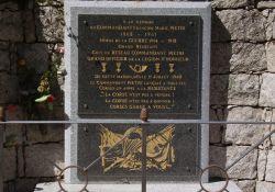 Gedenktafel für Cdt. Pietri