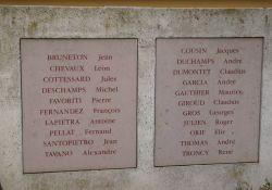 Namen von Résistants