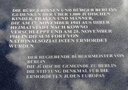 Gedenktafel für die Juden aus Berlin