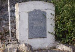 Stele an der Espenel-Brücke