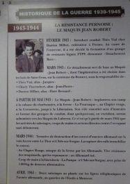 Tafel FTP-Maquis Jean Robert
