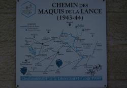 Tafel Wege des Maquis de la Lance