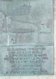 Relief auf dem Denkmal