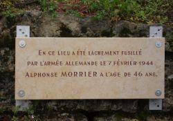 Gedenktafel an erschossenen A. Morrier