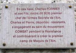 Gedenktafel an Familie Fornier, Av. Alsace Lorraine; © Musée Nantua