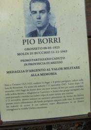 Gedenktafel für Pio Borro