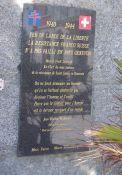 Gedenktafel am Memorial