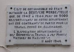 Gedenktafel Zwangsarbeits-Deportierte