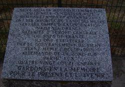 Gedenkstein für die deportierten Juden