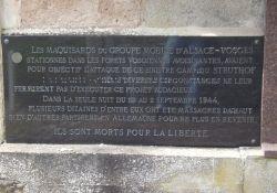 Gedenkstein: Ziele der GMA-Vosges