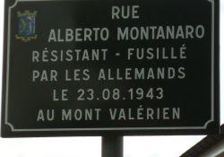 Straßenschild Montanaro