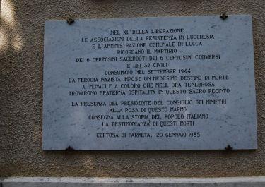 Gedenktafel für die Opfer von Certosa (Foto: Cocconi)