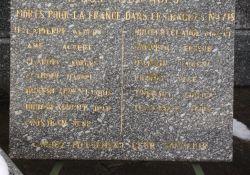 Gedenktafeln an die Toten der Nazilager und der Deportation