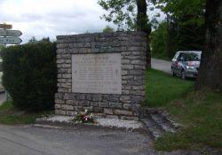 Gedenktafel an getötete Résistants, Saint-Julien-en-Vercors