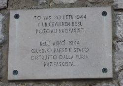 Gedenktafel in Malchina, Ceroglie und Visogliano