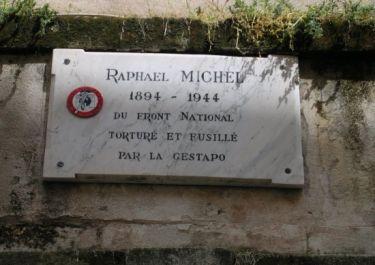 Gedenktafel R. Michel,; Quelle: maitron fusillés