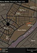 Plan der Ghetto Werkstätten (USHMM)