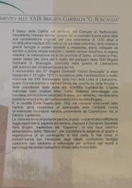 Informationstafel über die Brigade Boscaglia