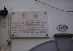 Gedenktafel A. Giusti u. J. Mondoloni