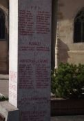 Totendenkmal, Ausschnitt: im KZ umgekommene Deportierte