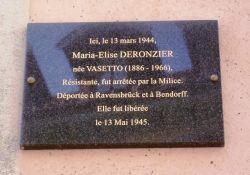 Gedenktafel M-E Deronzier