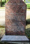 Gedenkstein für Josef Glazman