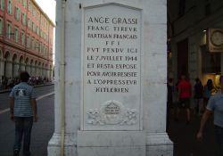 Gedenktafel für den erhängten A. Grassi